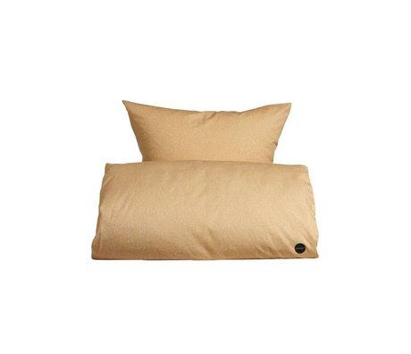 OYOY Duvet estrellado del Junior Orange 100x140cm algodón blanco