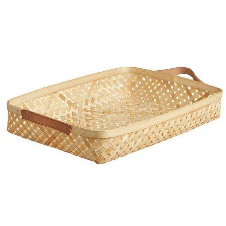 OYOY Cesta Sporta gran 28x42x6cm de bambú natural de color marrón