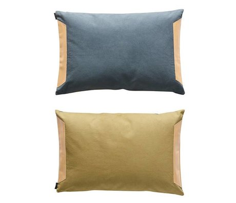 OYOY Cuscino lati blu d'oliva cotone 40x60cm