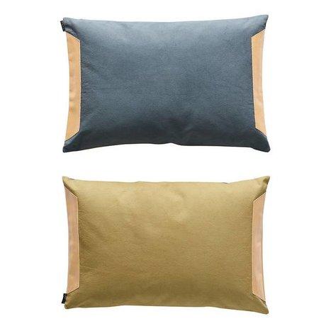 OYOY Kissen-seitig blau olivgrün Baumwolle 40x60cm