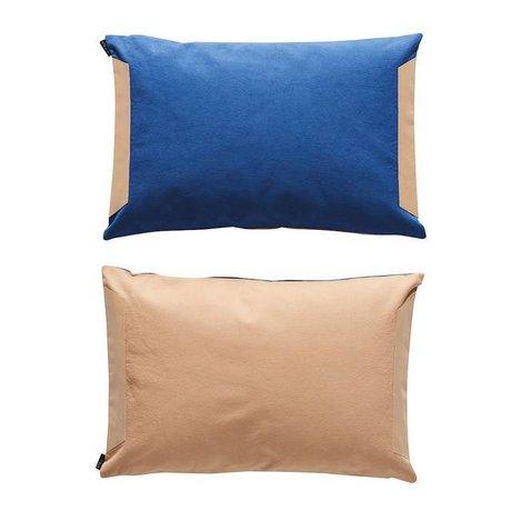 OYOY Cuscino lati di cotone rosa 40x60cm polvere blu