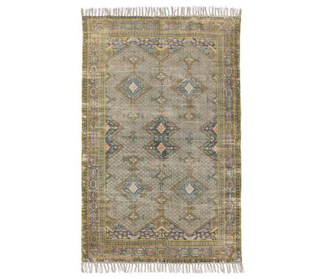 HK-living Rug green multicolour cotton 180x280cm