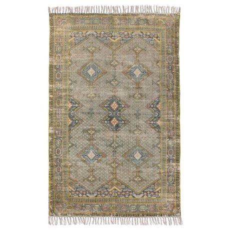 HK-living Teppich grün multicolor Baumwolle 180x280cm
