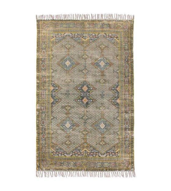 HKliving Teppich grün multicolor Baumwolle 180x280cm
