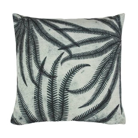 HK-living Cushion ferns black and white cotton 45x45cm