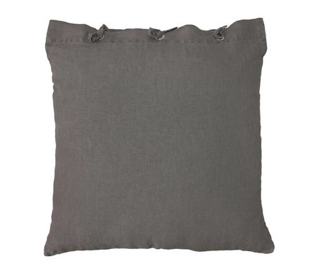 HK-living Cushion taupe brown linen metal 50x50cm
