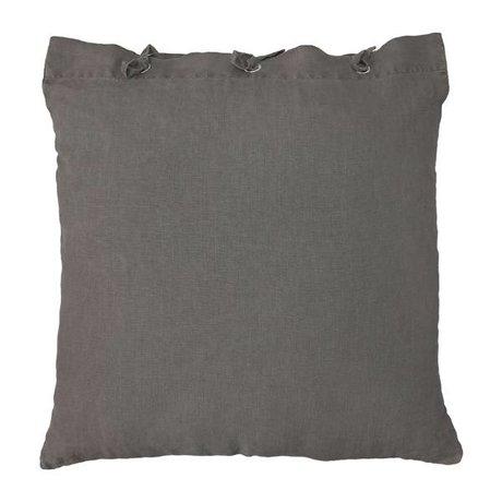 HK-living Zierkissen, taupe-braun, Leinen, Metall, 50 x 50 cm