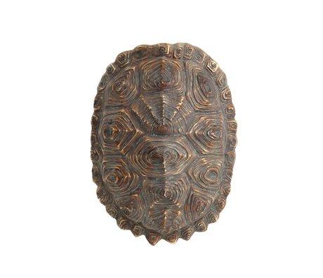 HK-living Künstlicher Schildkrötenpanzer, grün braun, Kunststoff, 27 x 20 x 13,5 cm