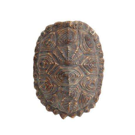 HK-living artificielle verte carapace de tortue brune plastique 27x20x13,5cm