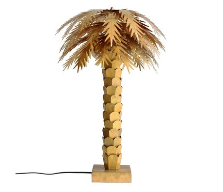 HK-living Lampe de table en laiton Palm d'or 45x45x68cm