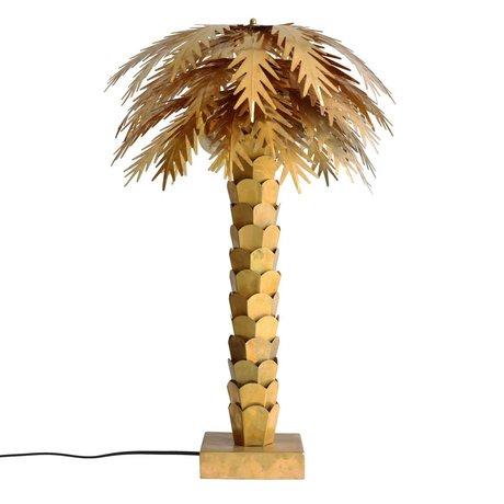 HK-living Table Lamp Palm gold brass 45x45x68cm