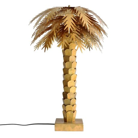 HK-living Tischlampe Palme, gold, Messing, 45 x 45 x 68 cm