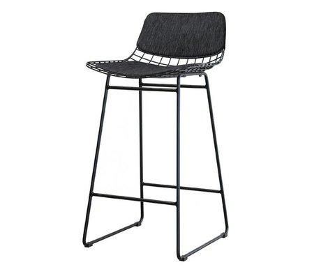 HK-living Comfort-Kit schwarz für Stahldraht-Barhocker