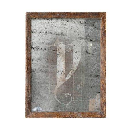 HK-living Spiegel, braun, Holz, 25 x 32,5 x 3,5 cm