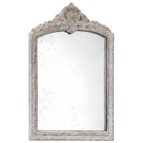 HK-living Spiegel im Antik-Look, grau, Steingut, 91 x 147 x 9 cm