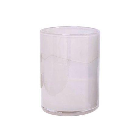 HK-living Verre soufflé à la main vase rose 12x12x17cm