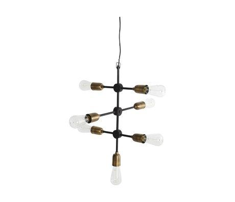 Housedoctor lámpara colgante de oro negro 58x48cm molecular del metal