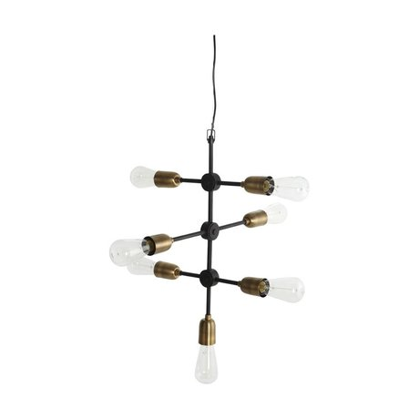 Housedoctor Moleküler asılı lamba siyah altın metal 58x48cm