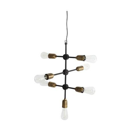Housedoctor Molekylær hængende lampe sorte guld metal 58x48cm