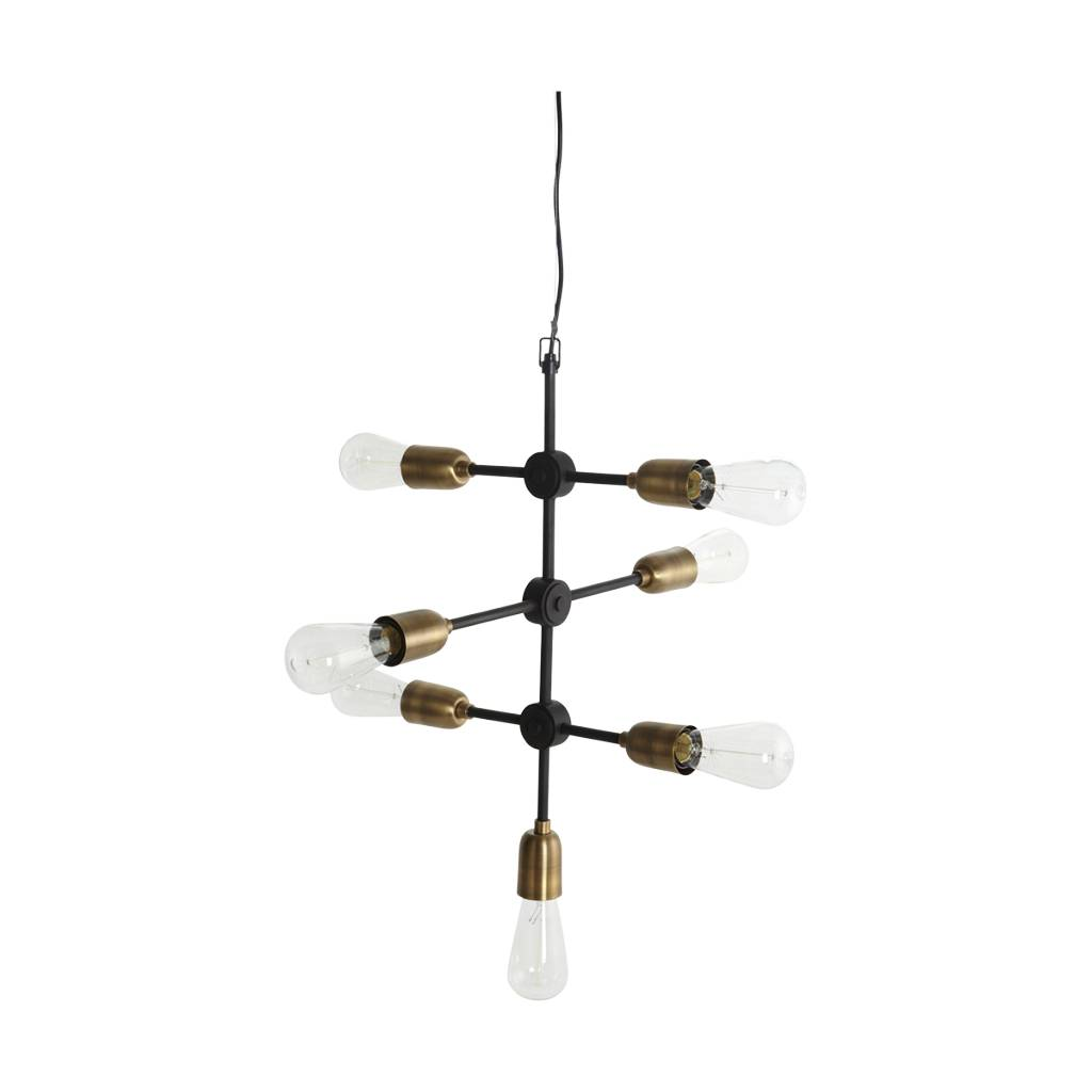 housedoctor molekyl r h ngende lampe sorte guld metal. Black Bedroom Furniture Sets. Home Design Ideas