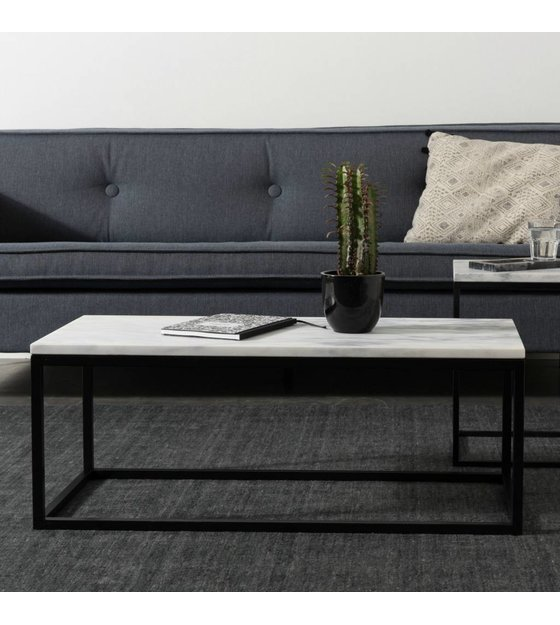 Marble Coffee Table Hk: Zuiver Marble Marble Coffee Table Power 90x40x35cm