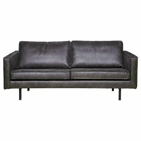 BePureHome Sofá Rodeo 2.5 asientos 190x86x85cm cuero negro