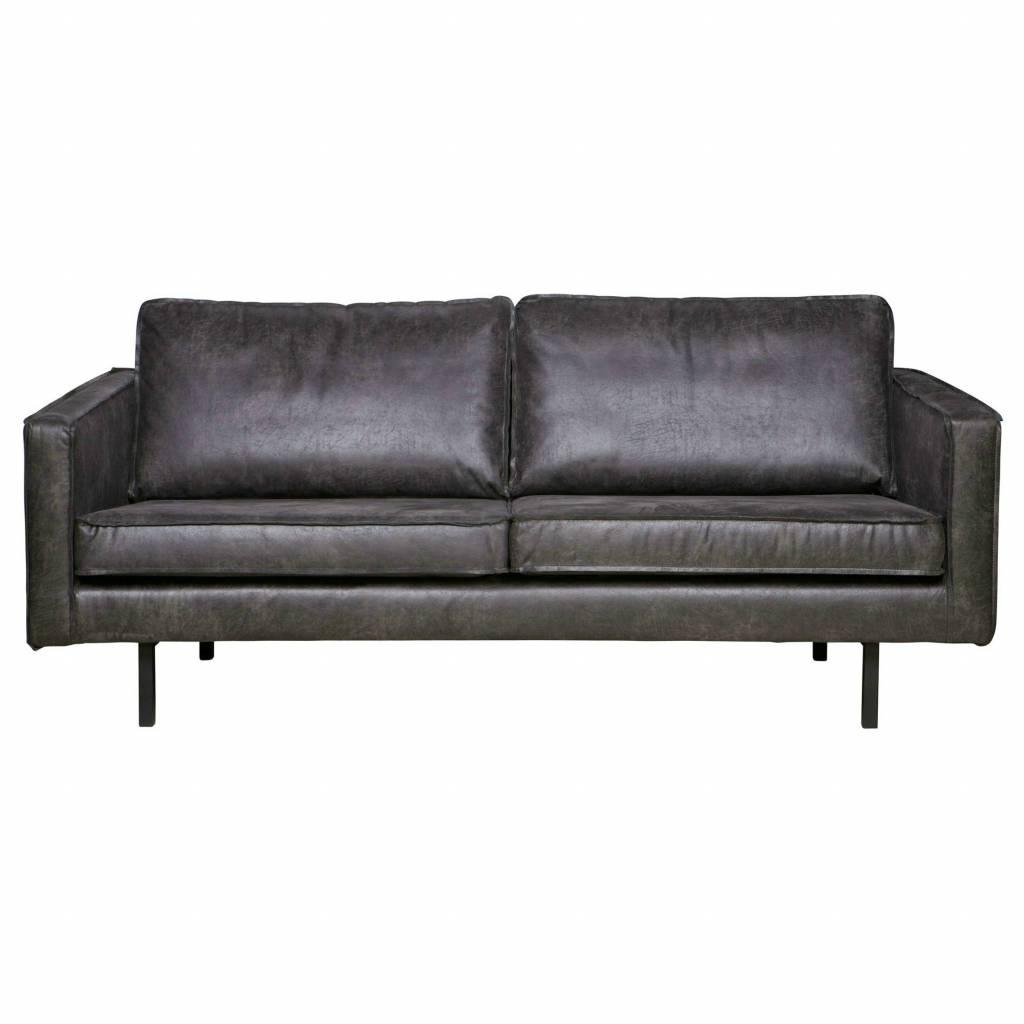 Divano Rodeo 2,5 sedile in pelle nera 190x86x85cm - lefliving.com