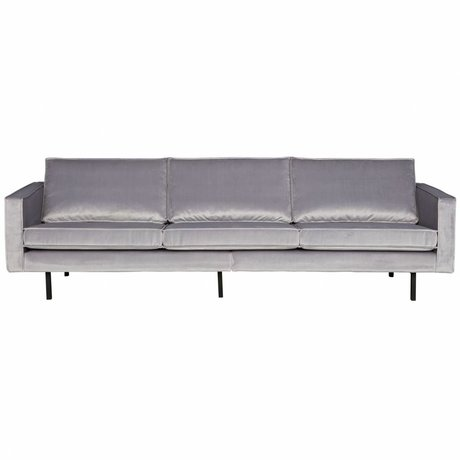 BePureHome Bank Rodeo 3 pers lysegrå velour velour 85x277x86cm
