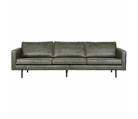 BePureHome 3-Sitzer-Sofa Rodeo Armee grünes Leder 85x277x86cm
