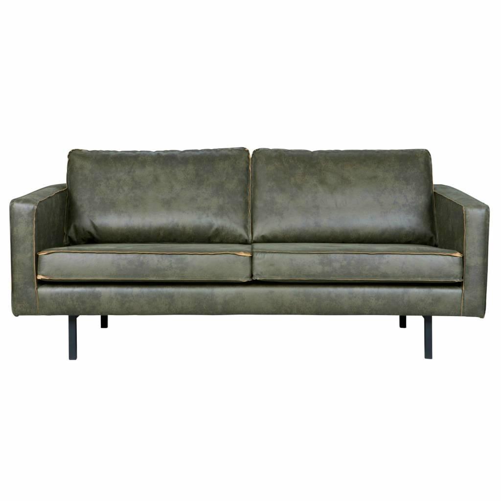 bank rodeo 2 5 sitz armee gr nes leder 190x86x85cm. Black Bedroom Furniture Sets. Home Design Ideas