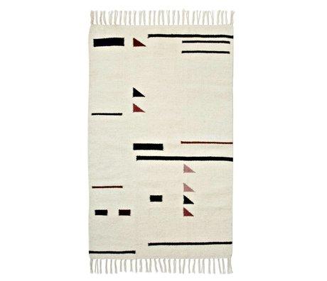 Ferm Living 80x140cm Alfombra de color Triángulos Multicolor Textil