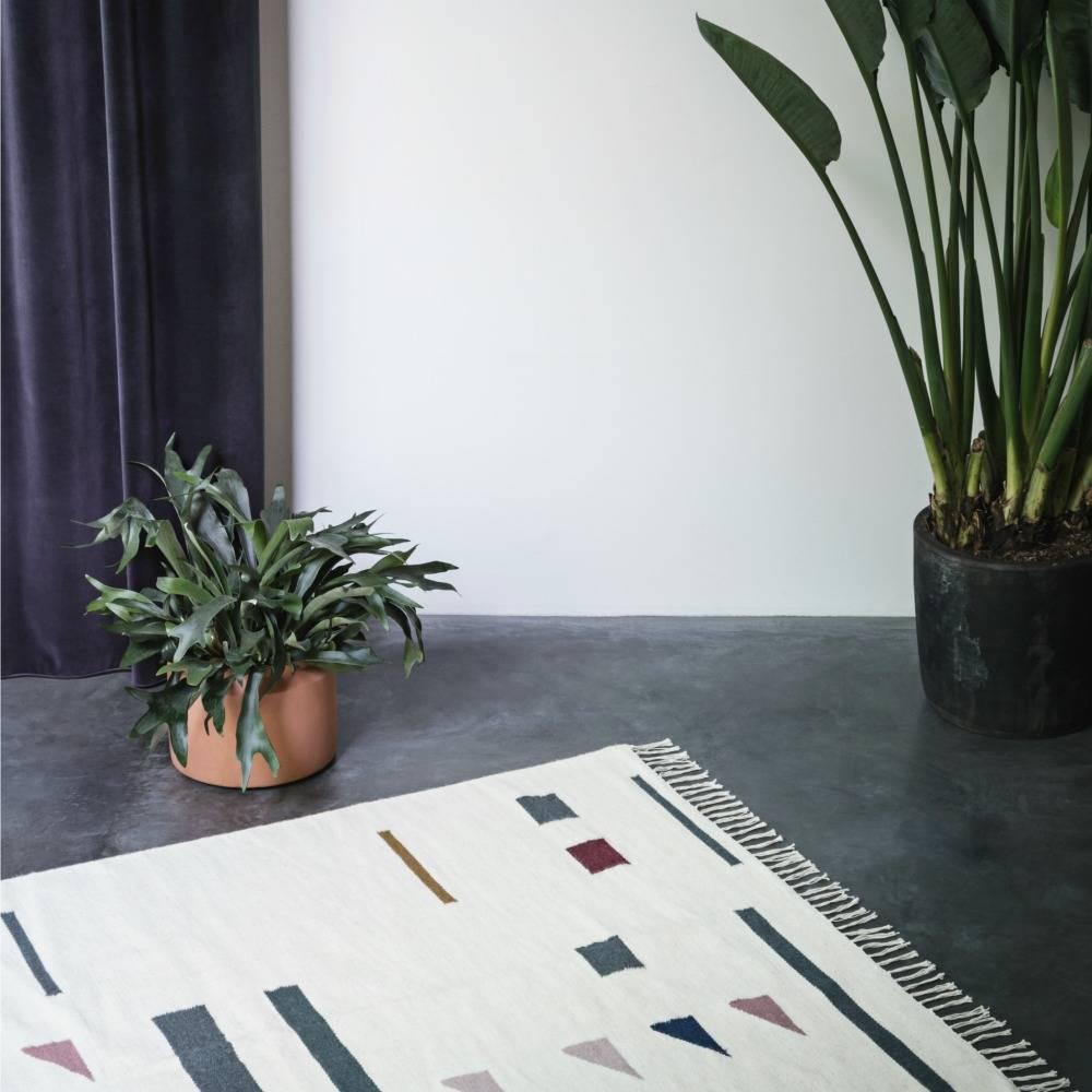 Ferm Living Teppich Farbe Triangles Mehrfarbentextil 80x140cm ...