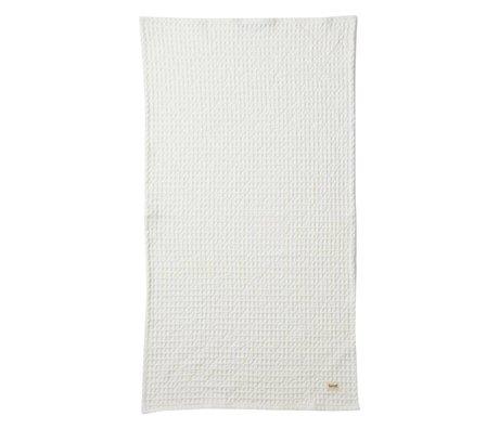 Ferm Living Organik beyaz bez tekstil 50x100cm