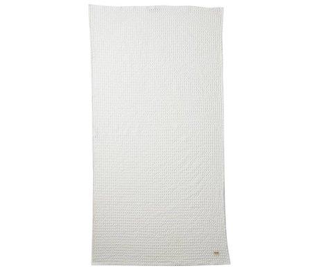 Ferm Living blanc textile en tissu 70x140cm organique
