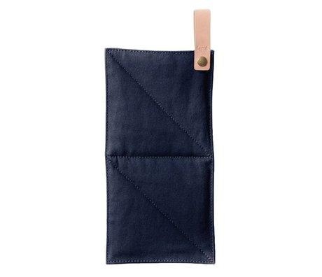 Ferm Living Pot Leinwand blau Textil 16x26cm
