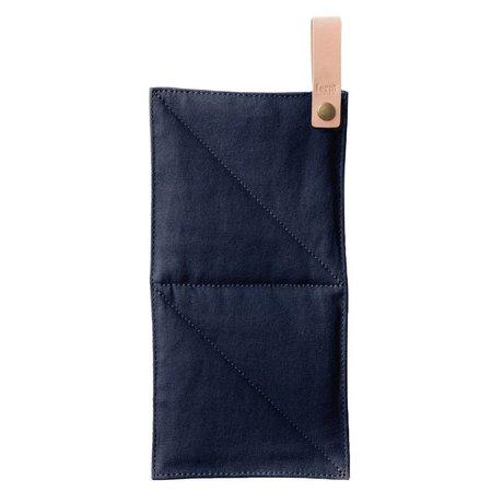 Ferm Living Pot tuval mavi tekstil 16x26cm