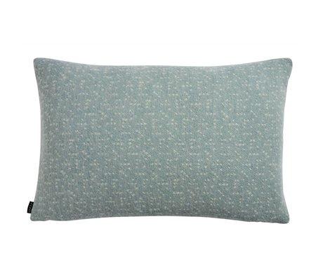OYOY Almohada Tenji polvo azul 40x60cm lana blanca