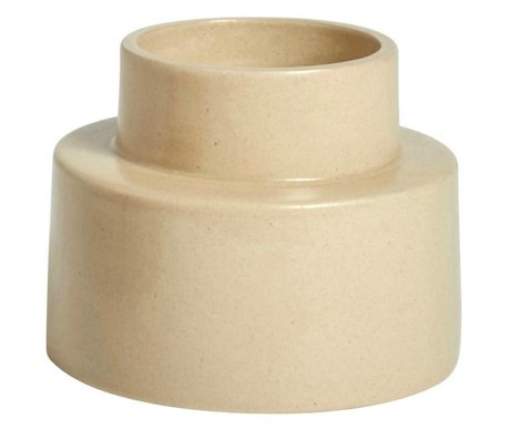 OYOY Candlestick KANA sahara brown ceramic ⌀11,5x9cm