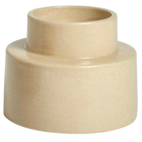 OYOY Kerzenständer KANA sahara brauner Keramik ⌀11,5x9cm