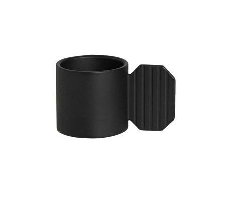 OYOY Candelabro ART HEXAGONO ⌀7,6x4,3cm de metal negro
