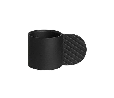 OYOY Kerzenleuchter ART KREIS schwarzem Metall ⌀7,75x4,3cm