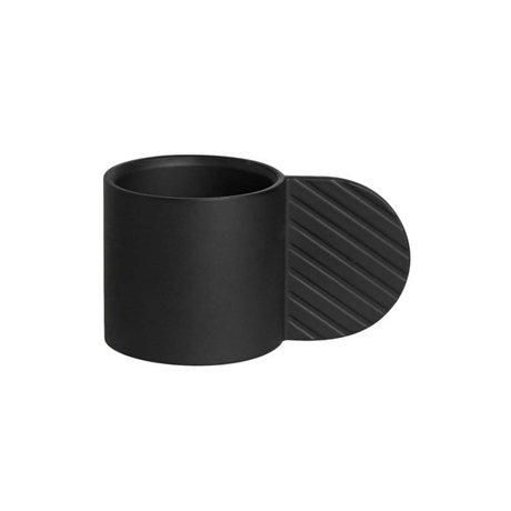 OYOY Candelabro Art Circle ⌀7,75x4,3cm de metal negro