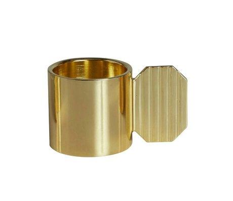 OYOY Lysestage ART HEXAGON messing guld metal ⌀7,6x4,3cm