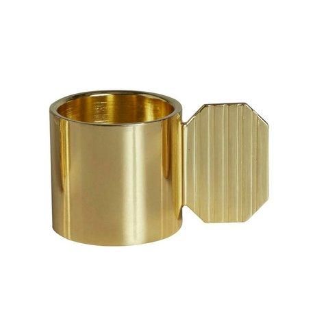 OYOY Candelabro de bronce ART HEXAGONO ⌀7,6x4,3cm metal de oro
