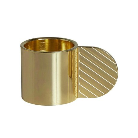 OYOY Şamdan SANAT CIRCLE pirinç altın metal ⌀7,75x4,3cm