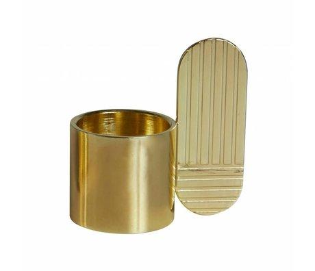 OYOY Candelabro de bronce ⌀7,5x8cm ovales del arte del metal del oro