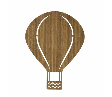Ferm Living Lámpara de pared de madera marrón Globo 26,5x34,55cm