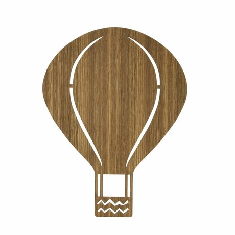 Ferm Living Lampada da parete Balloon legno marrone 26,5x34,55cm