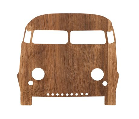 Ferm Living Pared de la lámpara del automóvil 27x22,5cm madera de color marrón