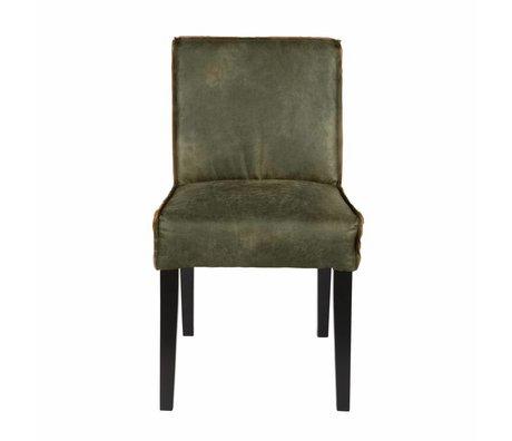 BePureHome Salle à manger chaise Rodeo vert 83x45x61cm en cuir